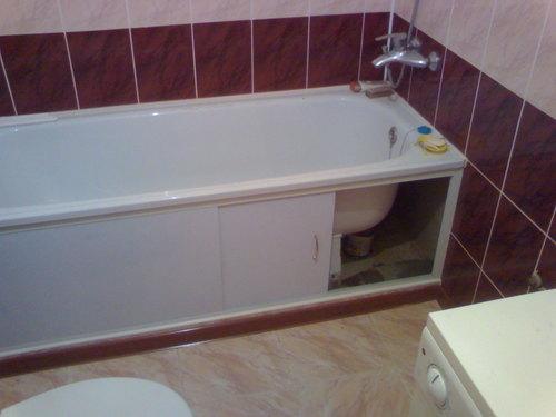 Как сделать экран для ванной?