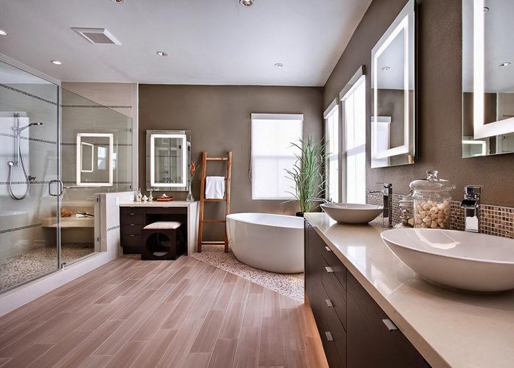 Практичные идеи обустройства ванной комнаты