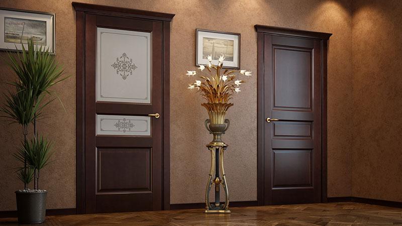 Темные входные двери – стильно и удобно