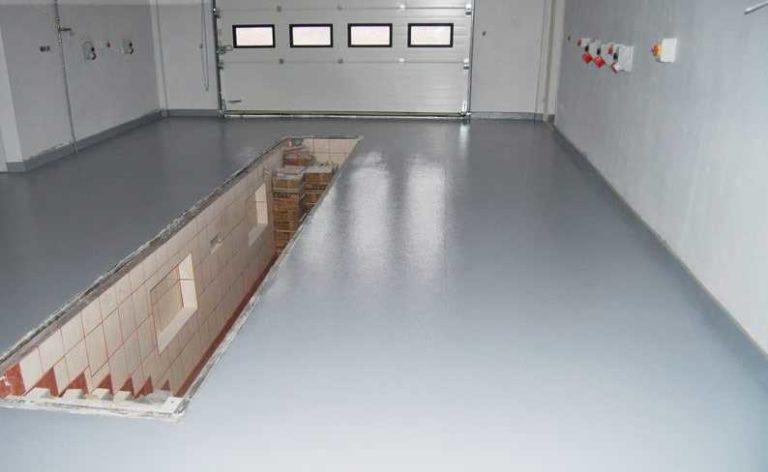 Наливной пол для гаража: какой лучше выбрать
