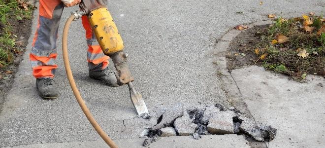 Как удалить бетонный проход?