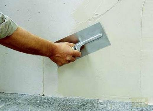 Как выбрать, применять, изготовить цементную шпаклевку?