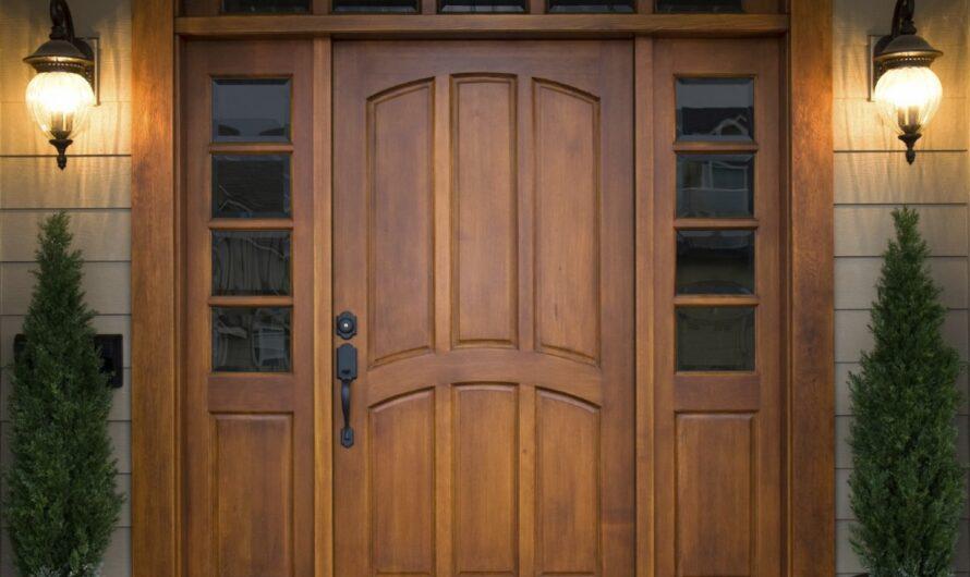 Входные деревянные двери — как сделать?